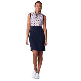 Coastal Collection: Trish Sleeveless Geo Print Dress