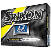 Srixon Q-Star Tour Yellow Golf Balls - Personalized