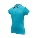 Kendall - Girls Performance Golf Polo W/ Sleeve & Back Cutout