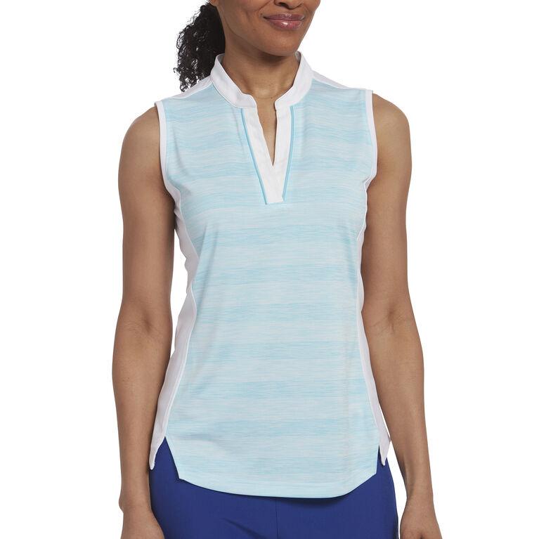 Rose Group: Sleeveless Stripe Polo
