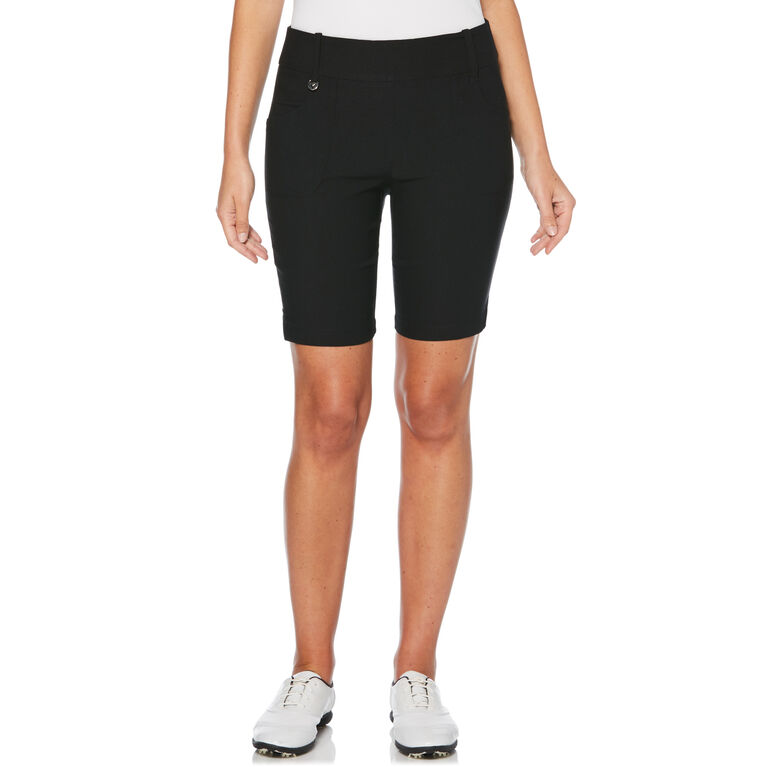 Pull On Solid Stretch Golf Short
