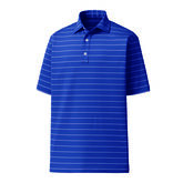 Lisle Double Pin Stripe Self Collar Polo