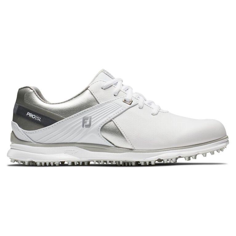 Pro|SL Women's Golf Shoe - White/Silver
