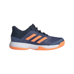 Adizero Club K Junior Tennis Shoe - Navy/Orange