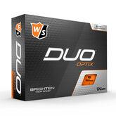DUO Optix Orange Golf Balls - Personalized