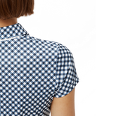 Alternate View 3 of Cara Short Sleeve Gingham Back Polo