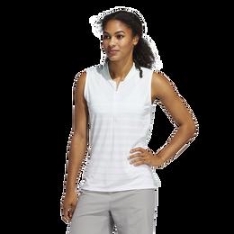 Striped Sleeveless Women's  Polo Shirt