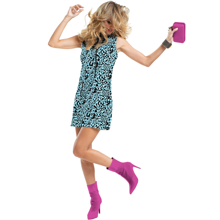 Shockwave Collection: Feline Print Sleeveless Dress