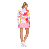 Alternate View 3 of Floral Fun Long Sleeve Quarter Zip Pull Over
