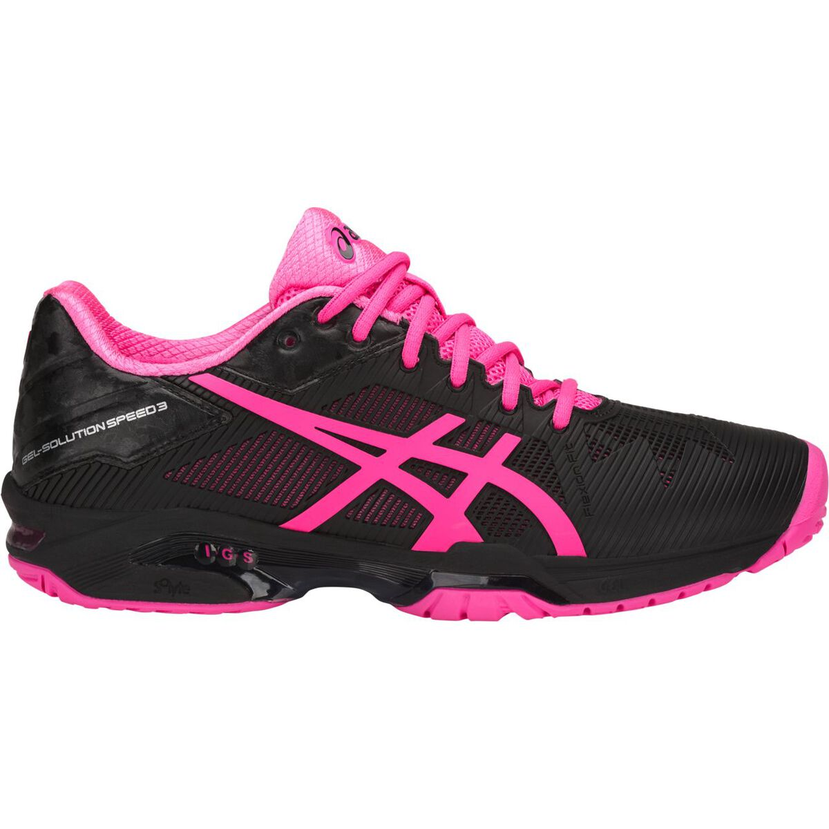 6763809b Asics GEL-Solution Speed 3 Women's Tennis Shoe - Black/Pink
