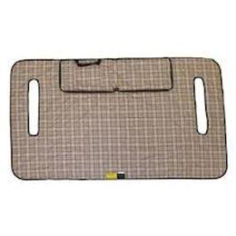 Golf Seat Blanket- Plaid/Grey