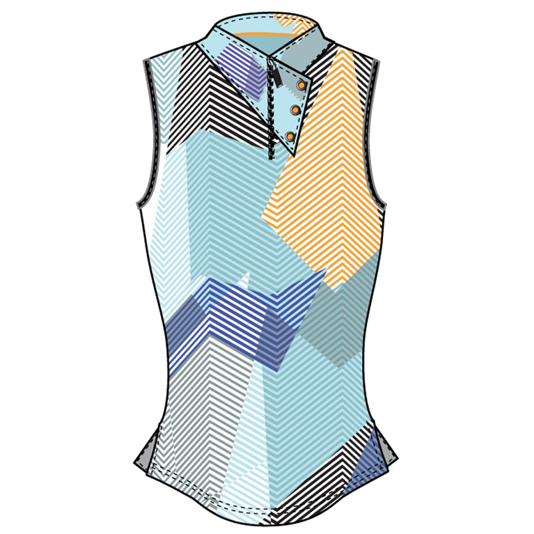 Oasis Collection: Sleeveless Geo Print Top