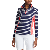 Long Sleeve Striped Quarter Zip Pullover