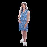 Mystic Sleeveless Hibiscus Print Scallop Dress