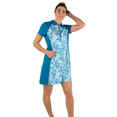 Alternate View 2 of Ocean Breeze Collection: Floral Print Short Sleeve Dress