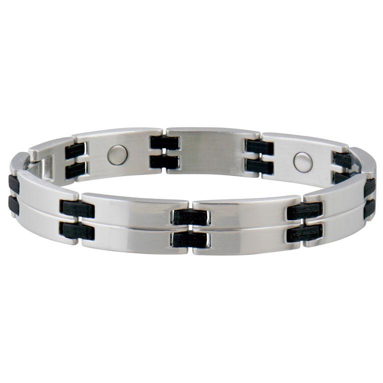 Sabona Magnetic Link Bracelet - Black/Steel