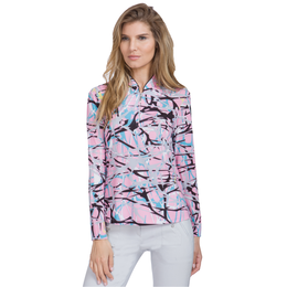 Sunsense: Complexity Print Quarter Zip Pull Over