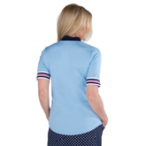Alternate View 4 of Cape May Powder Collection: Short Sleeve Ribbed Collar Mock Shirt