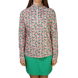 Flamingo Collection: Bubble Print Long Sleeve Quarter Zip Pull Over