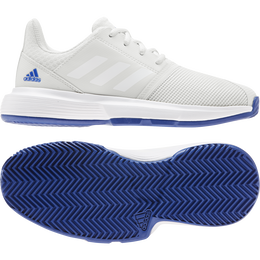 ADIWEAR™ 6 CourtJam XJ Junior's Tennis Shoe - Off White/Royal Blue