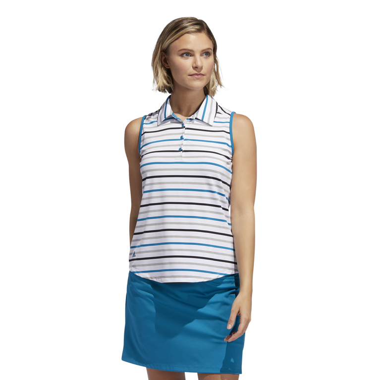 Ultimate365 Sleeveless Stripe Polo Shirt