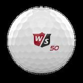 Alternate View 1 of Fifty Elite Golf Ball - White