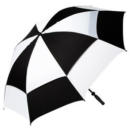 "Golf Gifts & Gallery 72"" Dual Canopy Umbrella - Black/White"