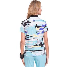Fiji Collection: Short Sleeve Jenga Print Top