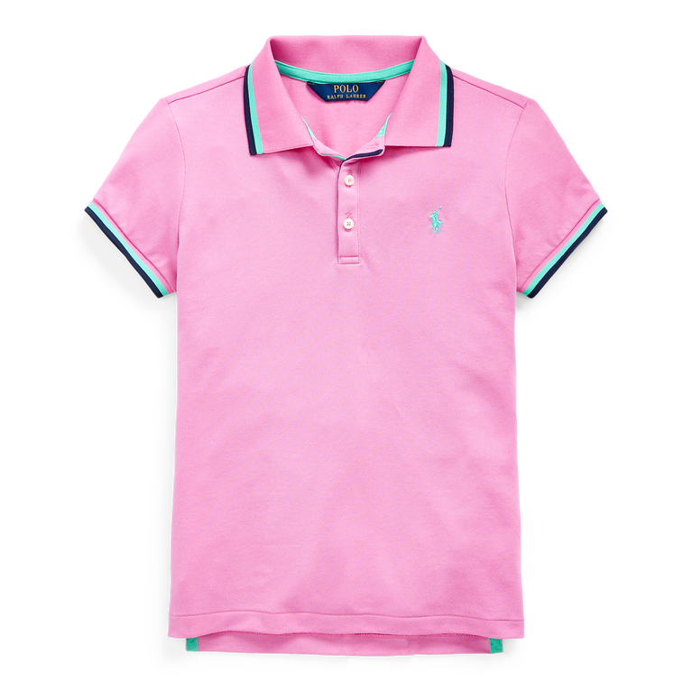 Short Sleeve Girls Tipped Polo