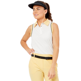 Alternate View 2 of Biltmore Collection: Sleeveless Piped Rib Trim Top