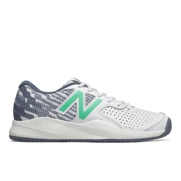 696v3 Men's Tennis Shoe - White/Blue