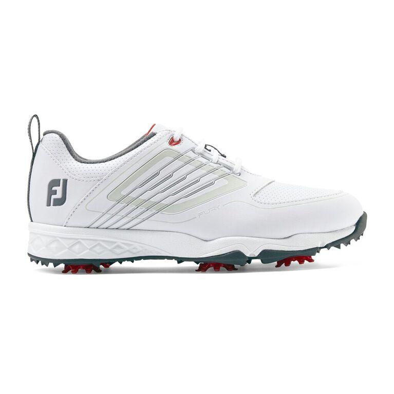 FJ Fury Junior Golf Shoe - White/Silver