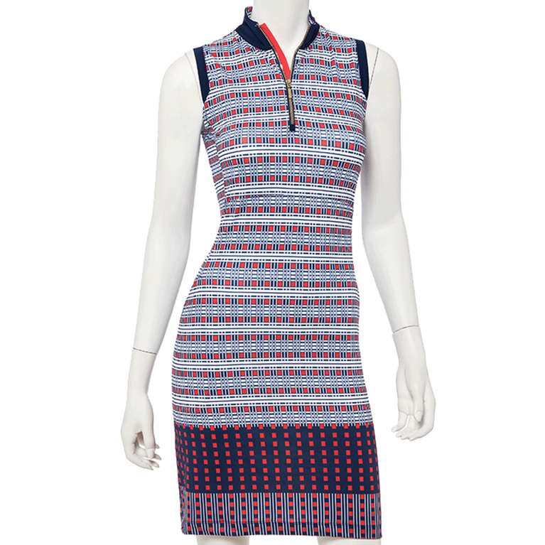 Drive Collection: Sleeveless Patchwork Print Dress