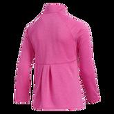 Alternate View 6 of Girls Long Sleeve Full Zip  Heathered Jacket
