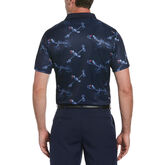 Alternate View 1 of Linear Toucan Print Short Sleeve Golf Polo Shirt