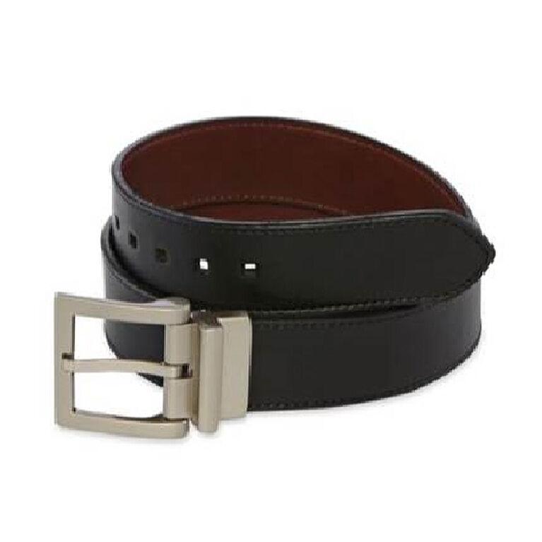 PGA TOUR Reversible Leather Belt- Black/Brown