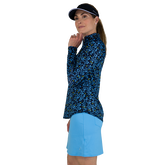 Alternate View 1 of Limonata Collection: Ditsy Print Quarter Zip Pull Over Top