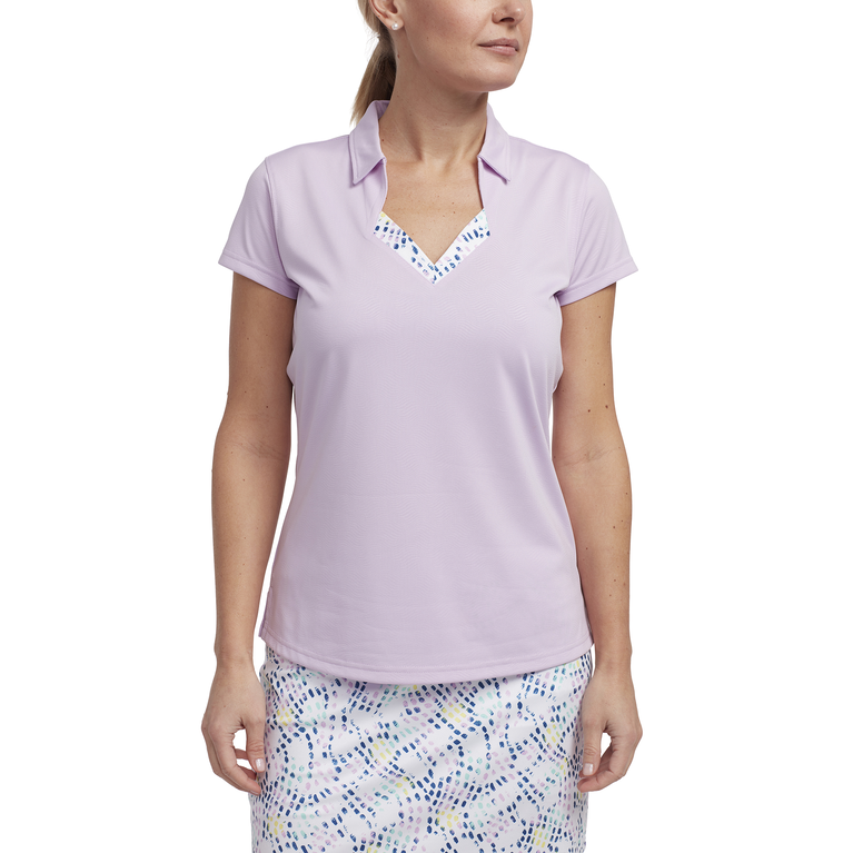 Limelight Collection: Short Sleeve Wave Textured Polo