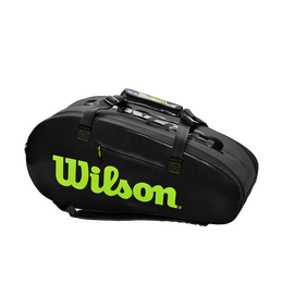 Super Tour 2 Compartment Large Tennis Bag - Black/Green