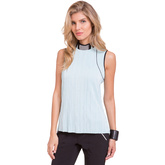 Oasis Collection: Sleeveless Solid Crunch Top