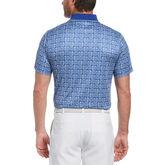 Alternate View 1 of Floral Batik Print Short Sleeve Golf Polo Shirt