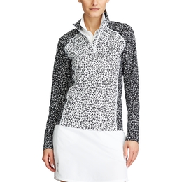 Daisy Print Sustainable Quarter Zip Pull Over