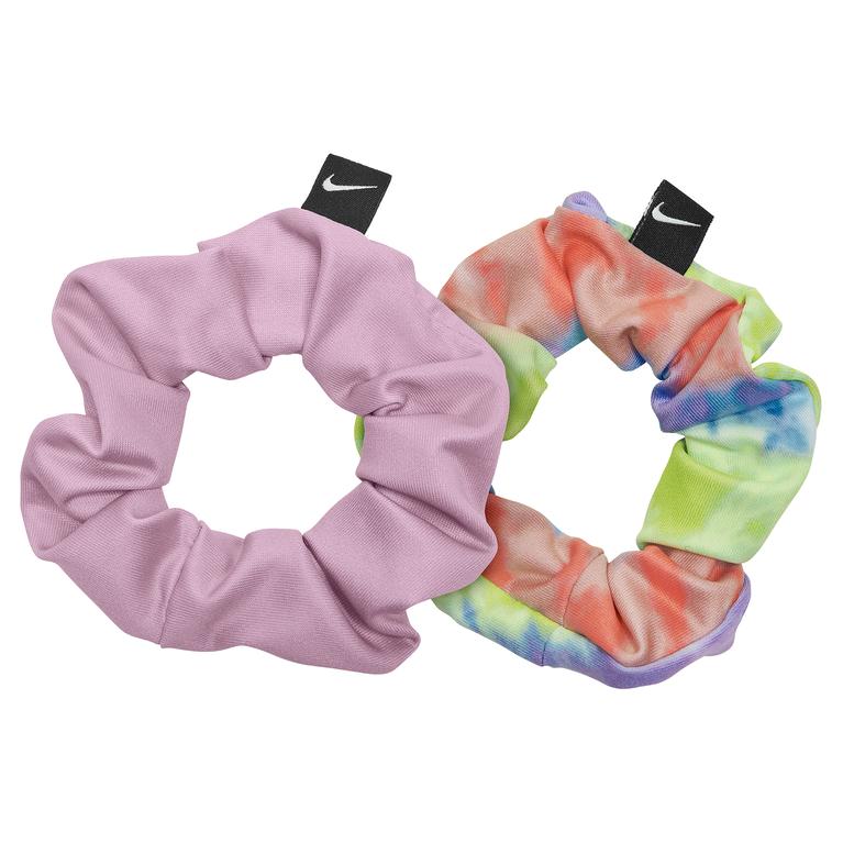 Gathered Hair Tie 2-Pack - Purple/Pink