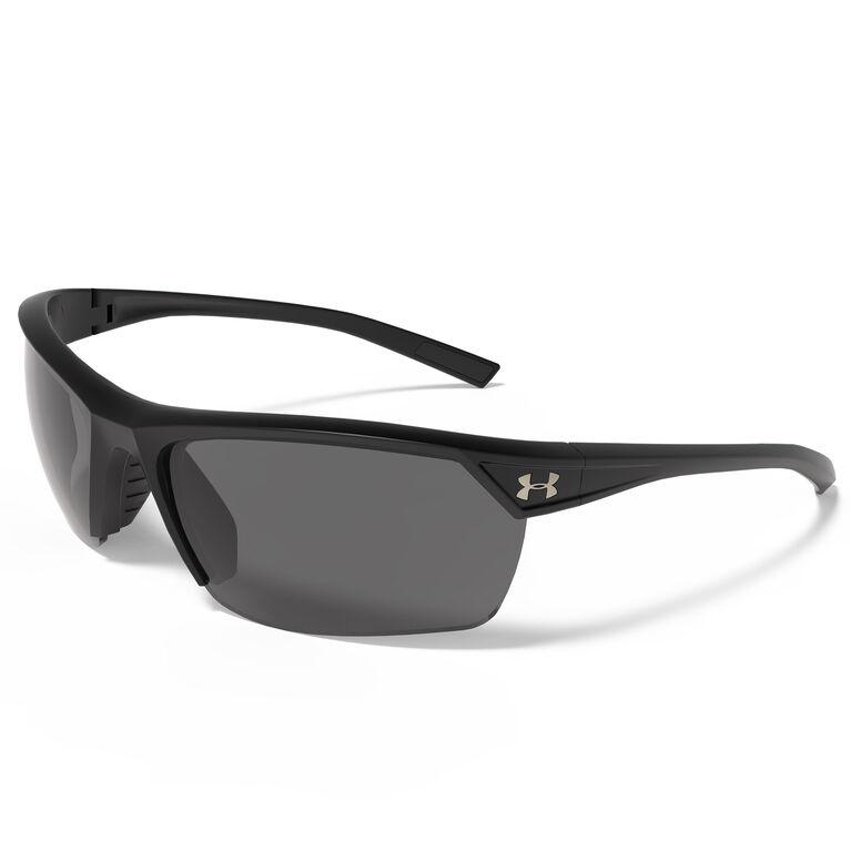 Under Armour Zone 2.0 Sunglasses - Satin Black - Gray Lenses