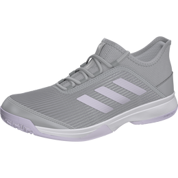Adidas Adizero Club K Juniors Tennis Shoe - Grey/Purple