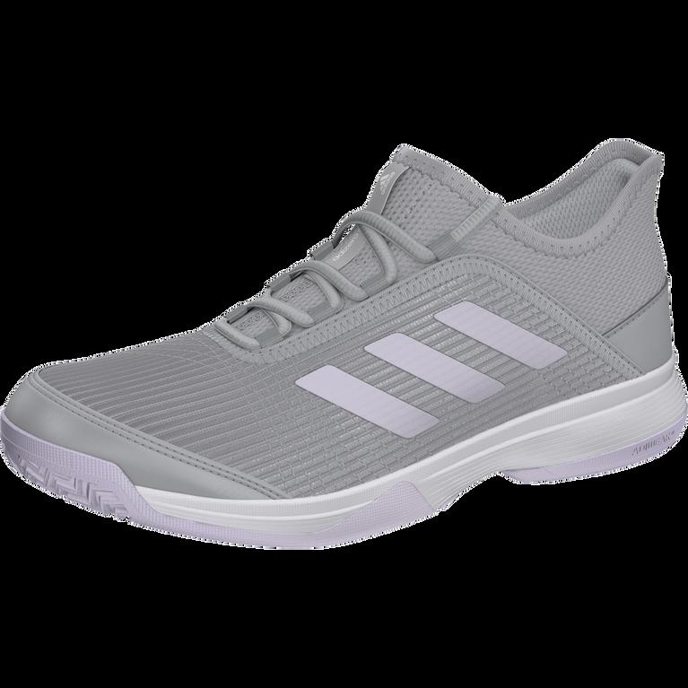 Adidas Adizero Club K Juniors Tennis Shoe - Grey/Purple