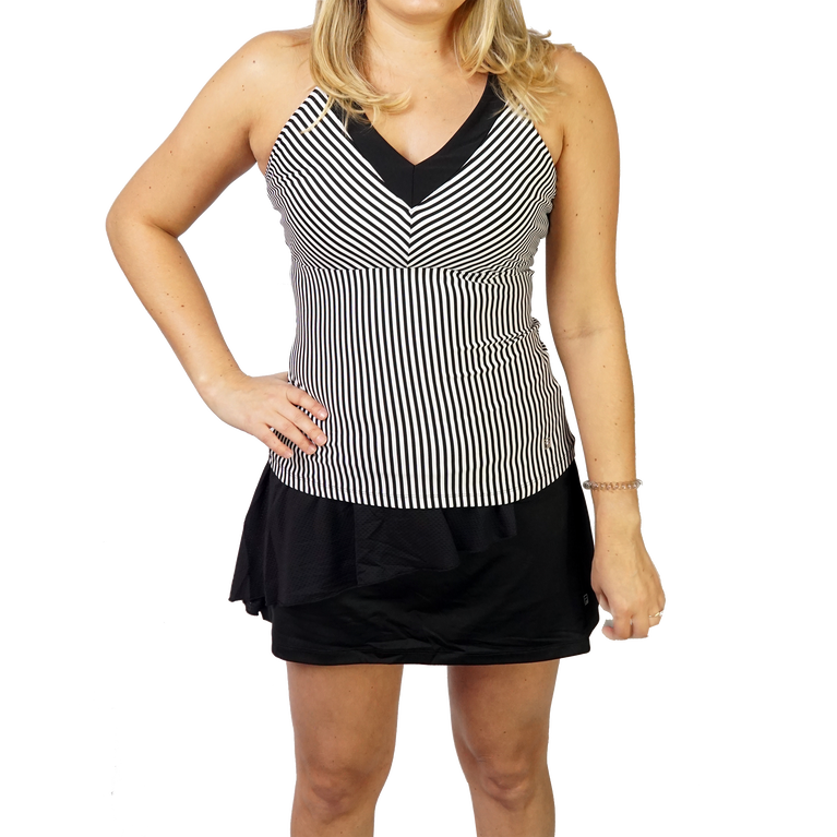 Ruffles & Stripes Collection: Striped Halter Tank Top