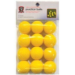 Yellow Foam Golf Balls - 12 Pack