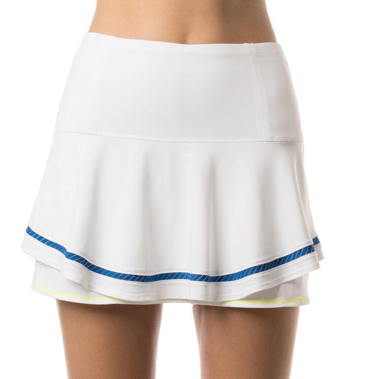 Multilayer Shadow Stripe Border Skirt