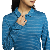 Alternate View 3 of Dri-Fit Long Sleeve Striped Polo Shirt